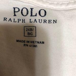 Ralph Lauren Shirts - White Ralph Lauren men's 2X Big. T-shirt